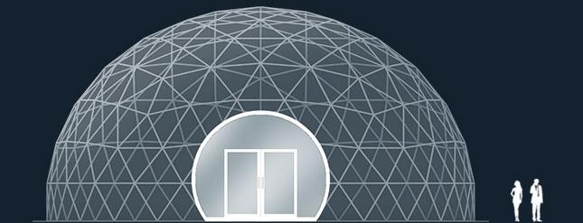 Модель GeoTenso GeoDome 380м2