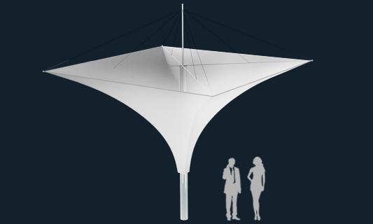 Модель Membrane Umbrella 25м2
