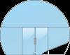 Стеклянная входная группа (безрамное остекление с дверью)