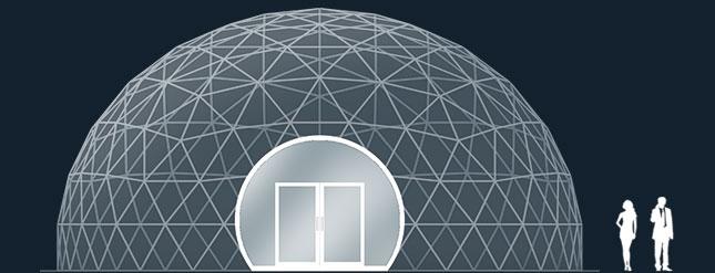 Модель GeoTenso GeoDome 154м2